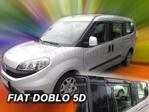 Wind deflectors FIAT Doblo 5d 2010-> (rear deflectors included)