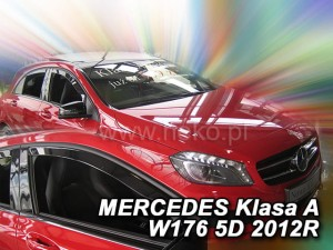 Wind deflectors MERCEDES A W176 5d 2012->