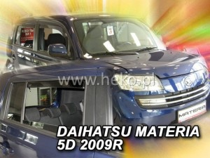 Wind deflectors DAIHATSU Materia 5d 2006-> (rear deflectors included)
