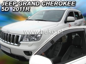 Wind deflectors JEEP Grand Cherokee WK2 5d 2011-> (front only)
