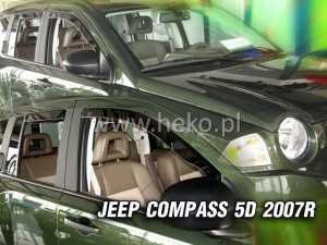 Wind deflectors JEEP Compass I MK 49 5d 2007-2017 (rear deflectors included)