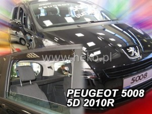 Wind deflectors PEUGEOT 5008 5d 2010-> (rear deflectors included)