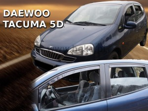 Wind deflectors DAEWOO Tacuma / Rezzo 5d 2001-> (rear deflectors included)