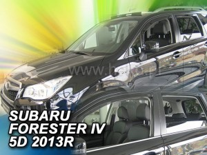 Wind deflectors SUBARU Forester IV 5d 2013-> (rear deflectors included)