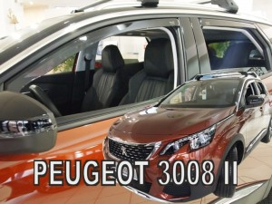 Wind deflectors PEUGEOT 3008 5d 2017-> (rear deflectors included)