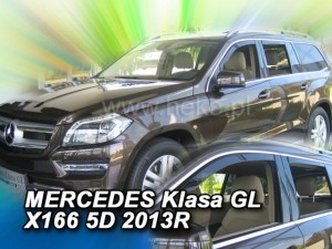 Wind deflectors MERCEDES GL / GLS X166 5d 2013-> (rear deflectors included)