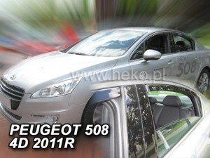 Wind deflectors PEUGEOT 508 4d 2011-2018 sedan (rear deflectors included)