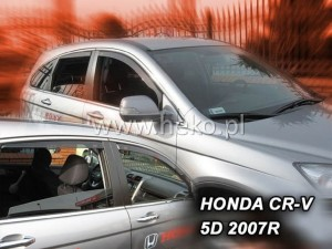 Wind deflectors HONDA CR-V III 5d 02.2007-2012 (rear deflectors included)