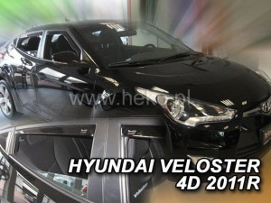 Wind deflectors HYUNDAI Veloster 3d 2011-> htb (rear deflectors included)