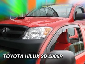 Wind deflectors TOYOTA Hilux VII 2d 08.2006-> (front only)