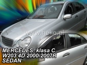Wind deflectors MERCEDES C W203 4d 2000-2007 sedan (rear deflectors included)