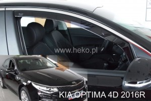 Wind deflectors KIA Optima IV JF 4d 2016-> sedan