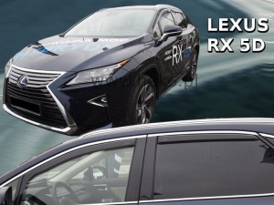 Wind deflectors LEXUS RX IV 5d 2016-> (rear deflectors included)