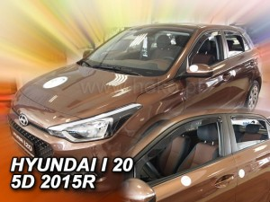 Wind deflectors HYUNDAI i20 II 5d 2015-2020 (rear deflectors included)