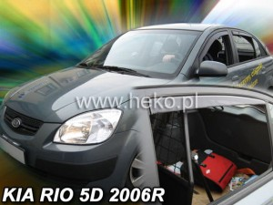 Wind deflectors KIA Ro II 5d 2005-2011 htb (rear deflectors included)