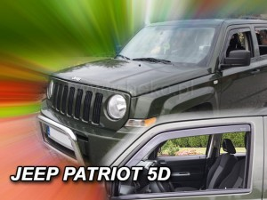 Wind deflectors JEEP Patriot 5d 2006-> (front only)
