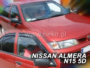 Wind deflectors NISSAN Almera N15 4/5d 1995-2000 htb sedan (rear deflectors included)