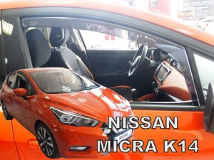 Wind deflectors NISSAN Micra K-14 5d 2017-> (front only)