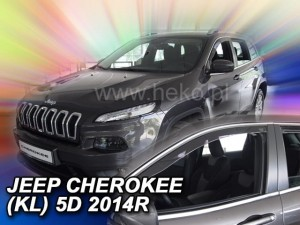 Wind deflectors JEEP Cherokee (KL) 5d 2013-> (front only)