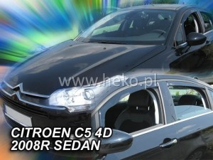 Wind deflectors CITROEN C5 4d 2008-2017 sedan (rear deflectors included)