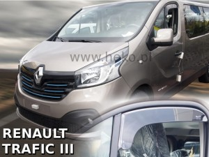 Wind deflectors RENAULT Trafic III 2014-2019 (short) (front only)