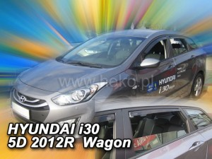 Wind deflectors HYUNDAI i30 5d 02.2012-2017 wagon (rear deflectors included)