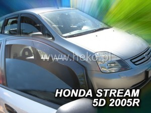 Wind deflectors HONDA Stream 5d 2000-2007