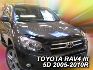 Wind deflector for front windscreen TOYOTA Rav4 2006-2009 (mounted with clips)