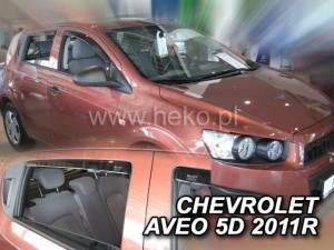 Wind deflectors CHEVROLET Aveo II 5d 2011-> (rear deflectors included)