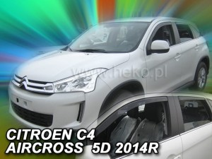 Wind deflectors CITROEN C4 AIRCROSS 5d 2012-> (rear deflectors included)