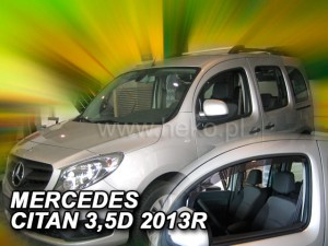 Wind deflectors MERCEDES Citan W415 3/5d 2012-> (front only)