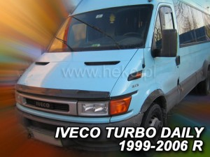Wind deflector for front windscreen IVECO Daily 2000-2006 (mounted with clips)