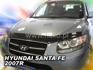 Wind deflector for front windscreen HYUNDAI Santa Fe II 5d 2006-2012 (mounted with clips)