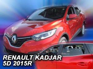 Wind deflectors RENAULT Kadjar 5d 2015-> (rear deflectors included)