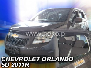 Wind deflectors CHEVROLET Orlando 5d 2011-> (rear deflectors included)