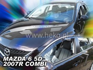 Wind deflectors MAZDA 6 II 5d 2007-2013 GH wagon (rear deflectors included)