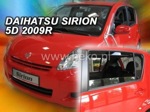 Wind deflectors DAIHATSU Sirion 5d 2005-> (rear deflectors included)