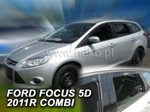 Wind deflectors FORD Focus MK3 5D 2011-2018 wagon (rear deflectors included)