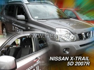 Wind deflectors NISSAN X-Trail II (T31) 5d 09.2007-2013 (front only)
