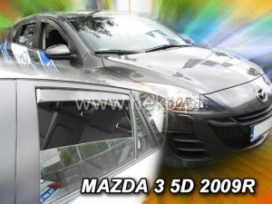 Wind deflectors MAZDA 3 II 4/5d 2009-2014 htb (rear deflectors included)