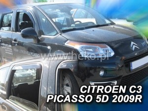 Wind deflectors CITROEN C3 Picasso 5d 2009-> (rear deflectors included)