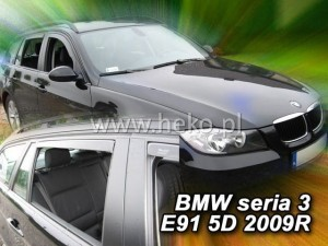 Wind deflectors BMW Seria 3 E91 5d 2005-2012 wagon (rear deflectors included)