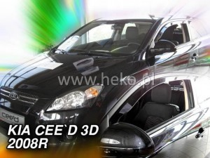 Wind deflectors KIA Pro Ceed 3d 2008-2013 (front only)