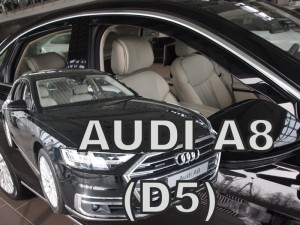 Wind deflectors AUDI A8 D5 IV 4d 2017-> (rear deflectors included)