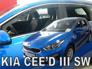 Wind deflectors KIA Ceed III 5d 2018-> sw (rear deflectors included)
