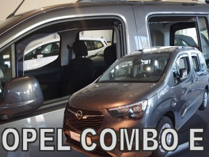 Wind deflectors OPEL Combo E 4d/5d LOV 2018-> (rear deflectors included)