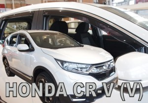 Wind deflectors HONDA CR-V V 5d 2018-> (rear deflectors included)