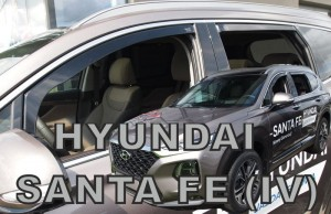 Wind deflectors HYUNDAI Santa FE IV 5d 2018-> (rear deflectors included)