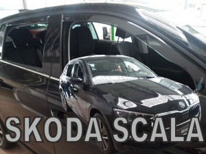 Wind deflectors SKODA Scala 5d 2019-> (rear deflectors included)