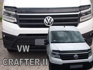 Wind deflector for front windscreen VOLKSWAGEN Crafter II 2017-> (mounted with clips)